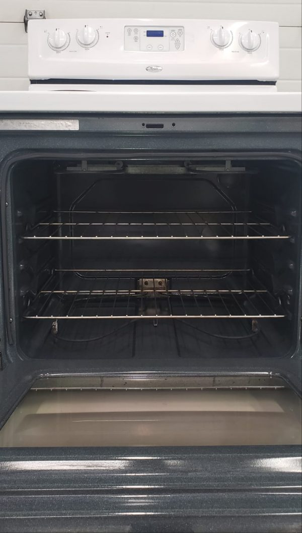 USED ELECTRICAL STOVE WHIRLPOOL WERE3000SQ0