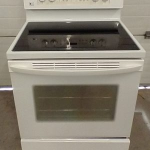 USED ELECTRICAL STOVE - LG LRE3091SW