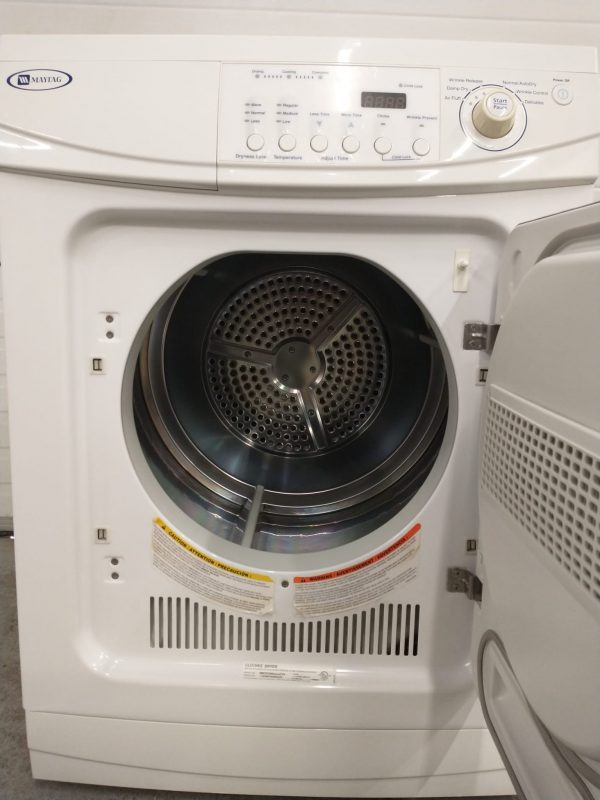 USED ELECTRICAL DRYER - APARTMENT SIZE MAYTAG - MDE2400AZW