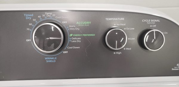 USED ELECTRICAL DRYER - WHIRLPOOL YWED4850BW1