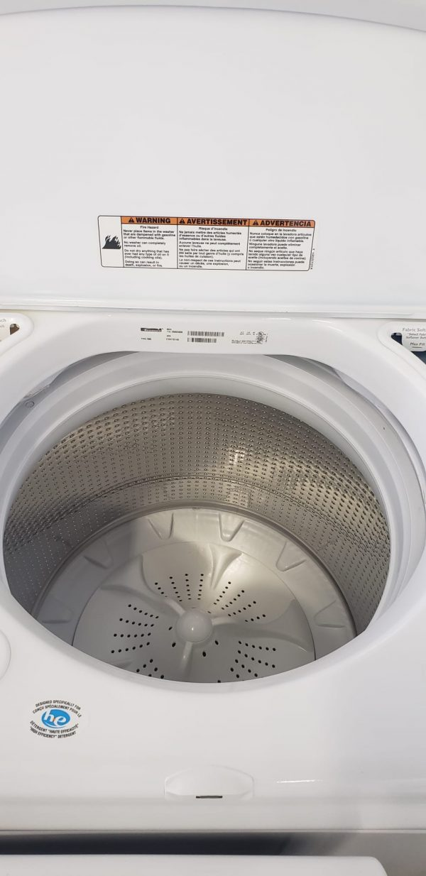USED SET KENMORE WASHER 110.28062800 AND DRYER 110.C67072700