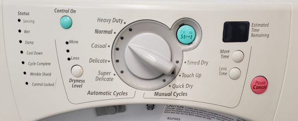 USED SET WHIRLPOOL DUET- WASHER GHW9100LW2 AND DRYER YGEW9200LW1