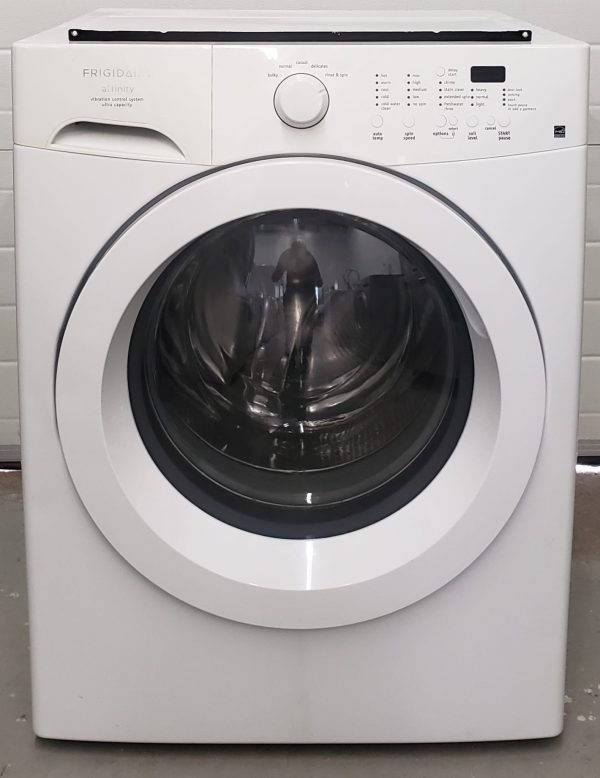 USED SET FRIGIDAIRE - WASHER FAFW3801LWS AND DRYER AEQ6000CES2