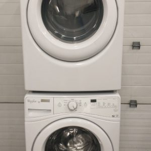 USED SET WHIRLPOOL WASHER WFW72HEDW0 AND DRYER YWED72HEDW0 5 1