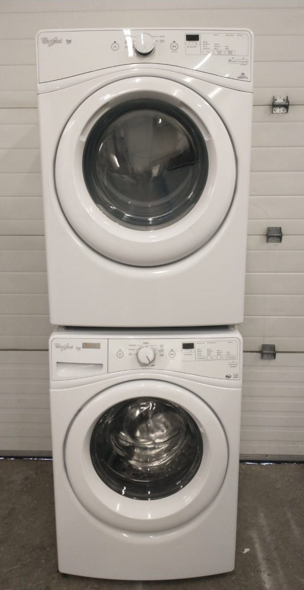USED SET WHIRLPOOL WASHER WFW72HEDW0 AND DRYER YWED72HEDW0