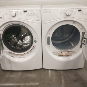 USED SET WHIRLPOOL WASHER WFW72HEDW0 AND DRYER YWED72HEDW0 7 1