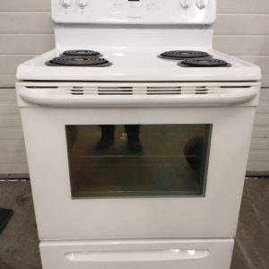 USED ELECTRICAL STOVE FRIGIDAIRE CFEF3016LWE