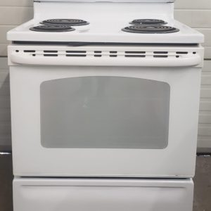 USED ELECTRICAL STOVE GE JCBP240DT2WW