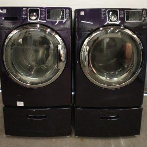 USED SET KENMORE WASHING MACHINE 592-49383 & DRYER 592-89373
